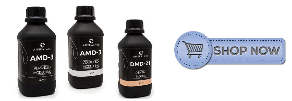 AmeraLabs 3D printing UV resin shop