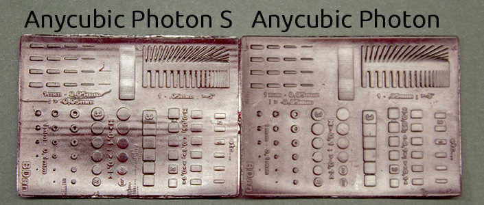 Quality comparison Anycubic Photon and Anycubic Photon S