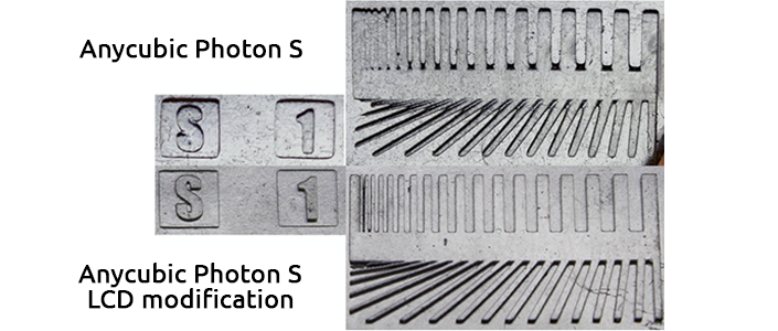 Anycubic Photon S Quality increase  after protective glass removal