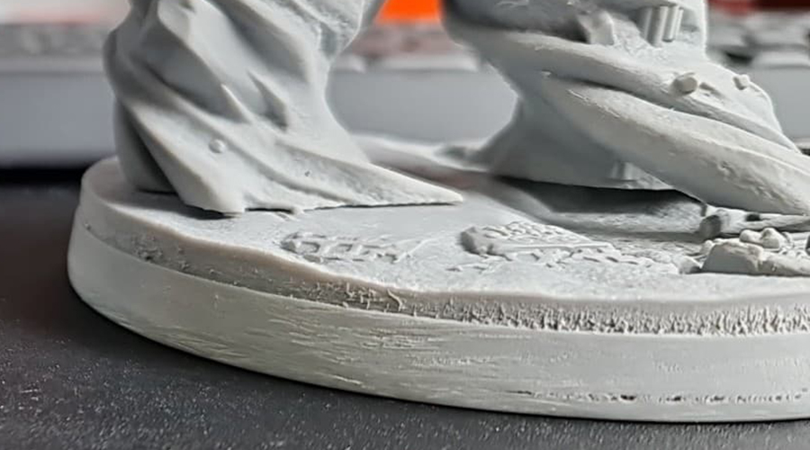 Example of blooming - uneven surface on resin 3D print